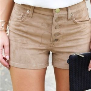 Express faux suede shorts